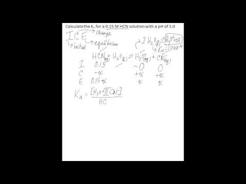 Calculate Ka from concentration and pH