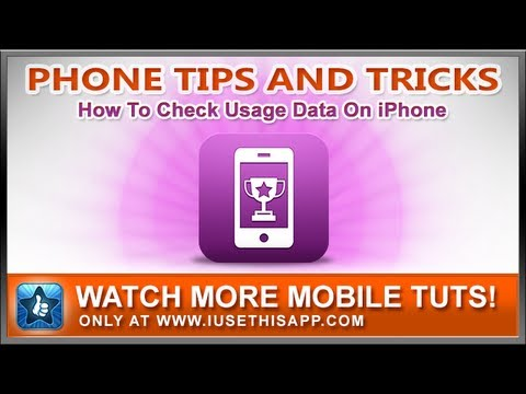 How To Check Usage Data On iPhone - iPhone How To - iPhone Help