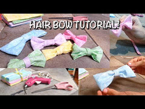 Do it Yourself: HAIR BOWS!!
