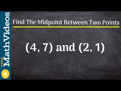 Tutorial - Learn how to find the midpoint between two points, (4, 7) and (2, 1)
