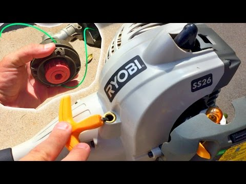 HOW TO REPLACE STRING RYOBI SS26 WEED TRIMMER LINE DIY WEED EATER WHACKER