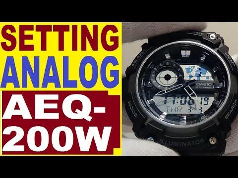 Setting Casio AEQ-200W analog time 5472 manual
