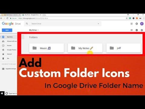 How To Add Custom Folder Icons in Google Drive Folder Name