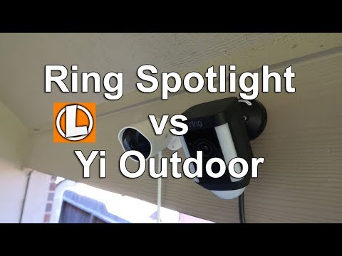 Ring Spotlight vs Yi Outdoor Camera - Comparison of Features, Settings, Motion Detection, Footage