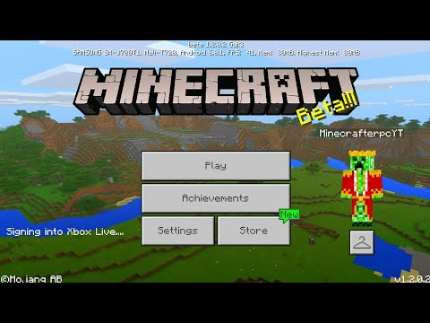 Minecraft PE 1.2 | HOW TO LOGIN IN/SIGN UP TO AN XBOX ACCOUNT!! + TUTORIAL & GAMEPLAY!!