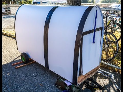 $60 Bicycle Trailer Dwelling: Mike's latest creation! Check it out
