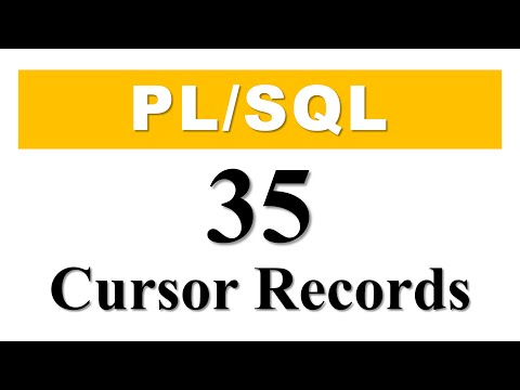 PL/SQL tutorial 35: Cursor Based Record Datatype Variable in Oracle Database By Manish Sharma