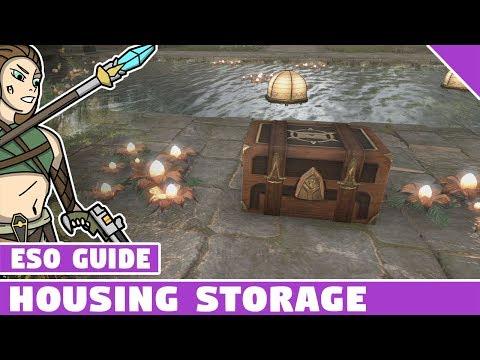 ESO Home Storage! Elder Scrolls Online Housing Storage