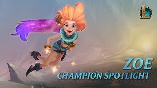 Champion Spotlight: Zoe | Gameplay– League of Legends