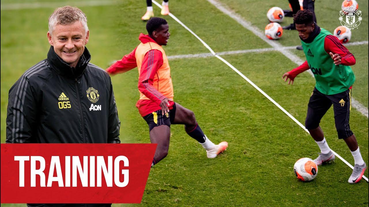 Training   Ole's Reds working hard ahead of Brighton clash   Brighton v Manchester United