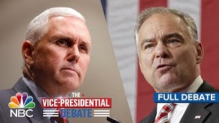 The Vice Presidential Debate Tim Kaine And Mike Pence Full Debate Nbc