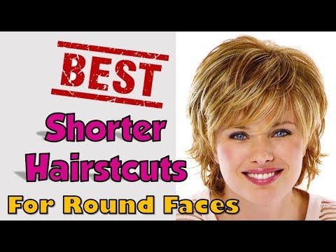 50+ BEST Shorter Haircuts for Round Faces Women