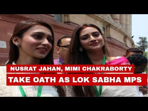 Xxx Mp4 TMC 39 S Nusrat Jahan Mimi Chakraborty Take Oath As Lok Sabha MPs A Week After Others 3gp Sex