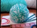 4inch pompom easy & wont fall apart using folded paper