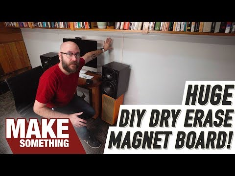 Make an Entire Wall a Dry Erase Magnetic Note Board! DIY Project