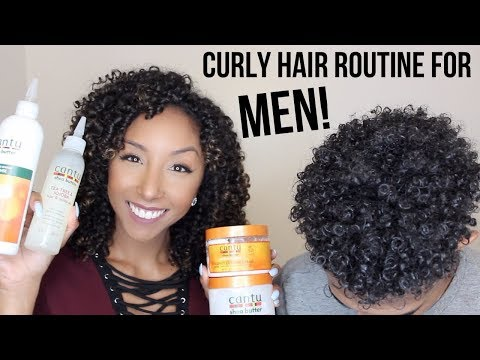 Curly Hair Routine For MEN! Using Cantu Products | BiancaReneeToday
