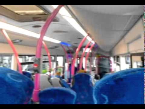 Onboard the belfast international airport bus no.300