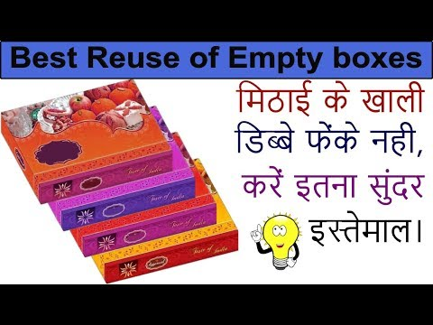 DIY  homemade decor Idea| Reuse cardboard box|waste material craft ideas| jewellery box diy