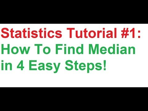 Statistics Tutorial #1: How To Find Median of Frequency Distribution In 4 Easy Steps!