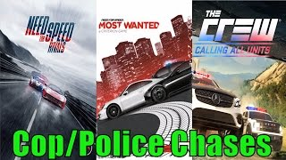 NEED FOR SPEED RIVALS vs NFS Most Wanted 2 vs THE CREW - POLICE CHASE RACING GAMES!
