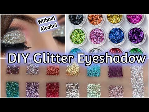 DIY Glitter Eyeshadow Without alcohol || Homemade || Arushi Pahwa