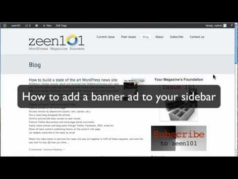How to add a display/banner ad into a WordPress sidebar