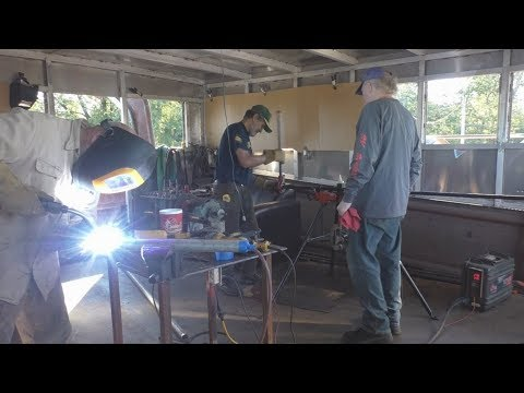 DIY Boat Building - Welding Stainless Steel Pipe, Painting, and Engine Room Stuff