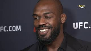 "Jon Jones ""humbled"" by close win over Thiago Santos | UFC 239 post-fight media scrum"