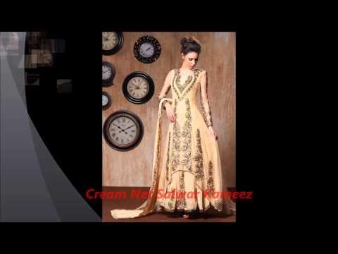 Cream Color salwar kameez by nikvik.com