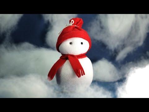Sock Snowman Craft - Christmas Crafts DIY Tutorial