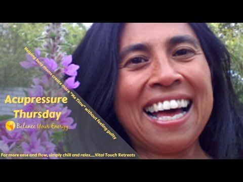 smooth blood circulation using acupressure