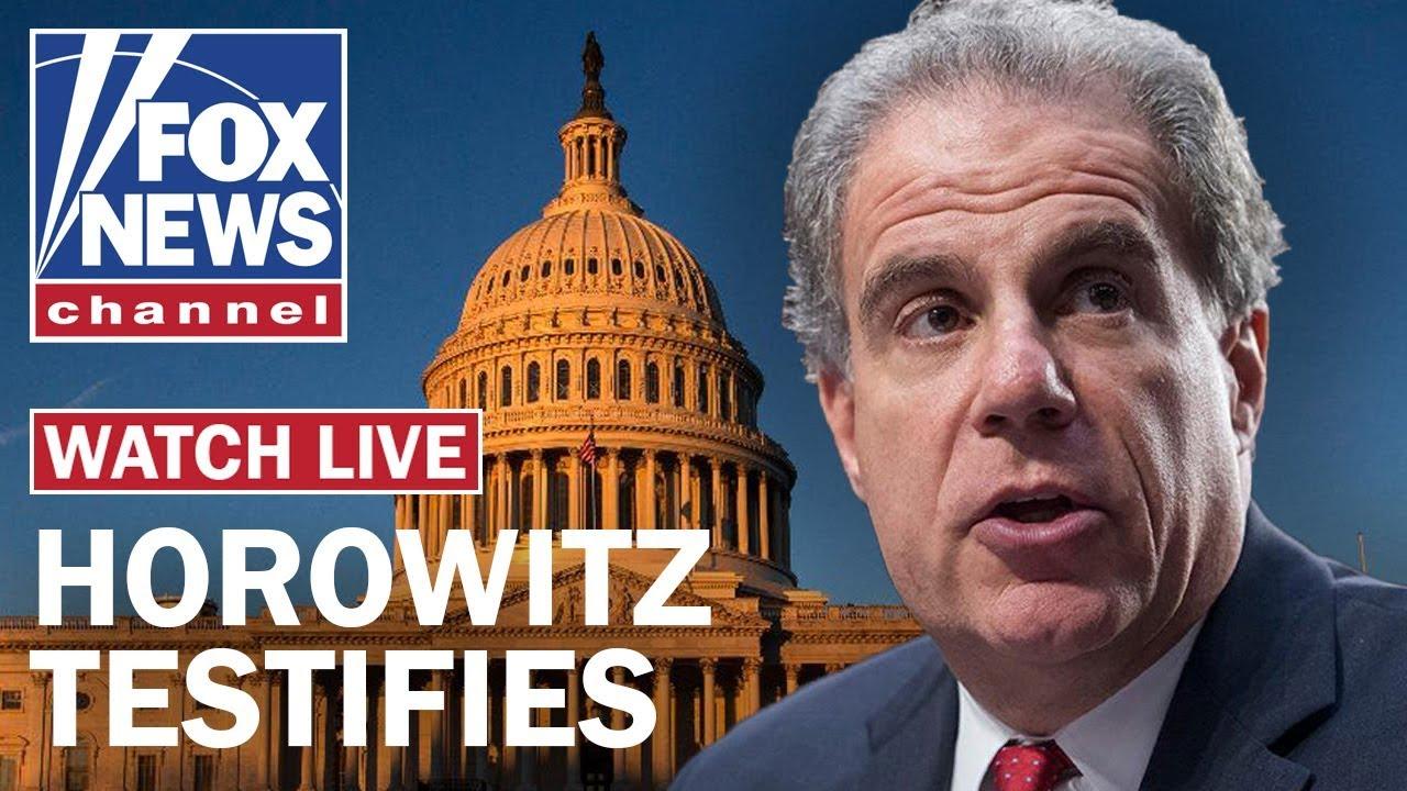 DOJ Inspector General Horowitz testifies on FISA report