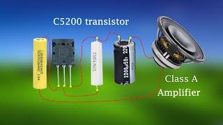 Wow! Make Big Amplifier 100Watt With D718 Transistor and Input 9Volt