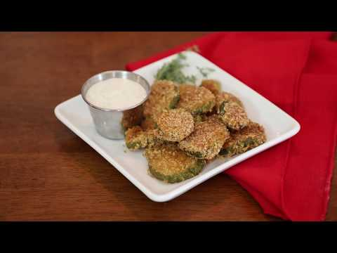 Fried pickles in the air fryer (or in a skillet!)