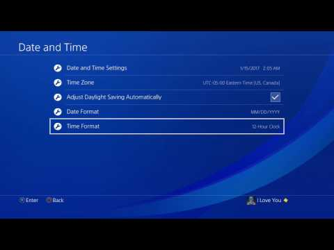 How to Change Date and Time on PS4!