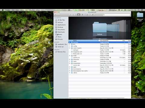 (Mac OS X Mountain Lion) How to get to the minecraft folder + make it easier in future