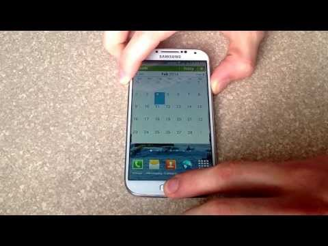 How to screenshot / screen capture on a samsung galaxy s4
