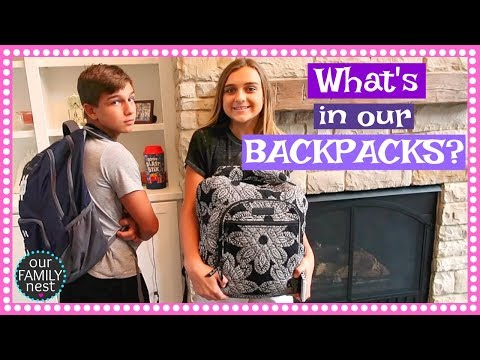 WHAT'S IN OUR BACKPACKS? BOY VS GIRL!