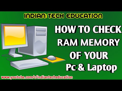 How to Check RAM memory of your computer & Laptop - Hindi