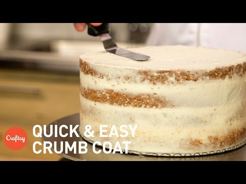How to crumb coat a cake | Buttercream Tutorial with Erica O'Brien