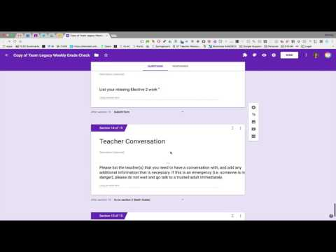 Creating Sections in Google Forms