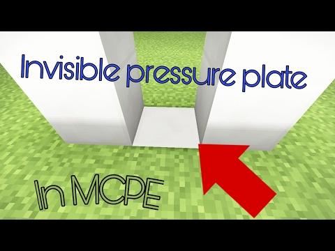 Invisible pressure plate in MCPE !!! 😨