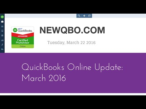 QuickBooks Online Update March 2016 - Inventory Tracking, Receive Payment, Home Currency