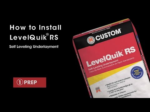 How to Install LevelQuik RS Self-Leveling Underlayment