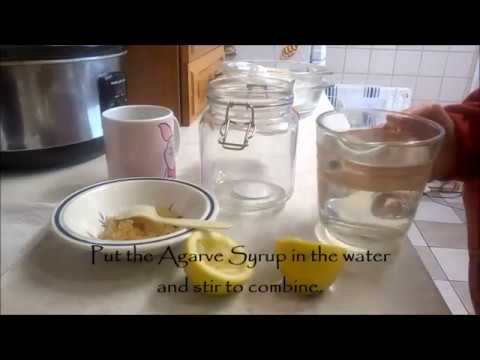 lemon water kefir