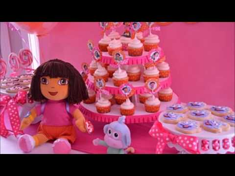 Dora Birthday Party ~ Decoration Ideas at Home ~ Cake invitations Party Supplies Goodie bags