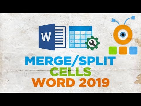 How to Merge or Split Cells in a Word Table 2019