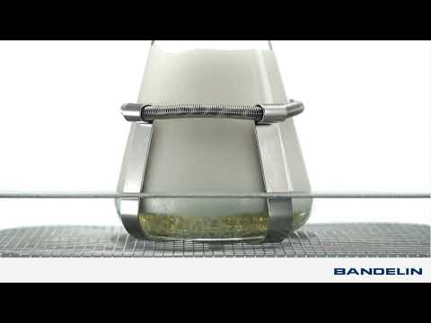 Degassing of beer in a SONOREX ultrasonic cleaner for illustration