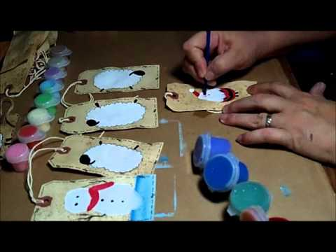 Part 3 of 3 - Primitive Painting Grungy Grubby Tags and Real Housewives of NYC Commentary