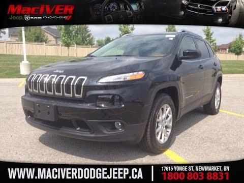 2015 Black Jeep Cherokee North 4WD Newmarket Ontario | MacIver Dodge Jeep